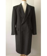 GIVENCHY Monsieur Men's 100% Virgin Wool Gray Long Coat (Size 52 R IT/42... - $399.95