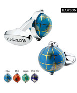 Man French Shirt Cuff Fashion Jewelry Mens Novelty Globe Cufflinks Earth... - $18.18