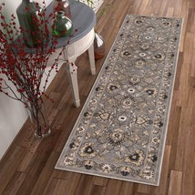"""2x8 (2'3"""" x 7'3"""") Runner Traditional Oriental Floral Gray Area Rug - $69.00"""