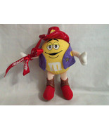 M&M's Yellow Cowboy Sheriff Stuffed Toy with Clip 7 inches Tall 2004 - $2.99