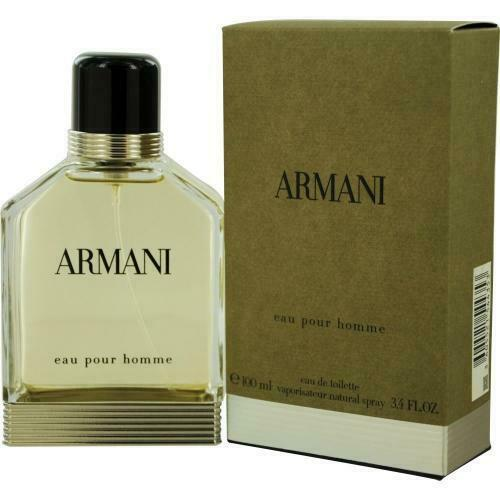 Primary image for ARMANI POUR HOMME Green 3.4 EDT Spray for Men (Unsealed)