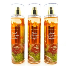 3-Pack Bath & Body Works SWEET CINNAMON PUMPKIN Fine Fragrance Mist Spra... - $37.95