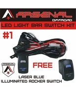 #1 Heavy Duty Wire Harness Kit LED Light Bars Rocker Switch 17FT of 14G ... - $23.12