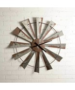 Farmhouse WINDMILL WALL CLOCK Country Rustic Vintage Primitive Distressed - £79.17 GBP