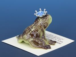 Birthstone Frog Prince Kissing March Aquamarine Miniatures by Hagen-Renaker image 3