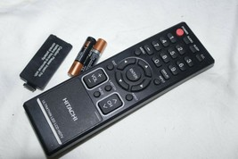Hitachi 076R0JE01A COM3101B Tv Vcr Dvd Remote Tested With Batteries Oem - $18.59