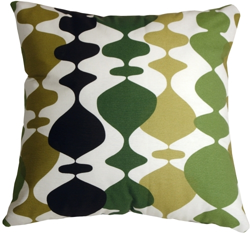 Pillow Decor - Lava Lamp Green 20x20 Throw Pillow