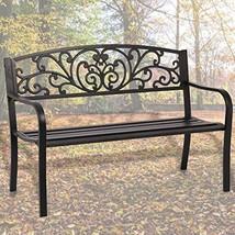 Patio Park Garden Bench Porch Path Chair Outdoor Deck Steel Frame New - $74.29