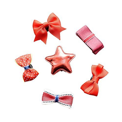 6 Pieces Hair Clip Set Sweet Style Little Girls Hair Accessories Hair Pins