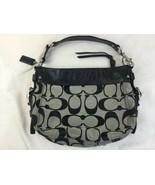 Coach Handbag F12657 Purse Zoe Black Leather Signature C Duffel Authenti... - $28.04