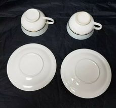 The French Saxon China Co Tea Cup & Saucer Set of 2, 22kt Gold, Pottery Made USA image 6