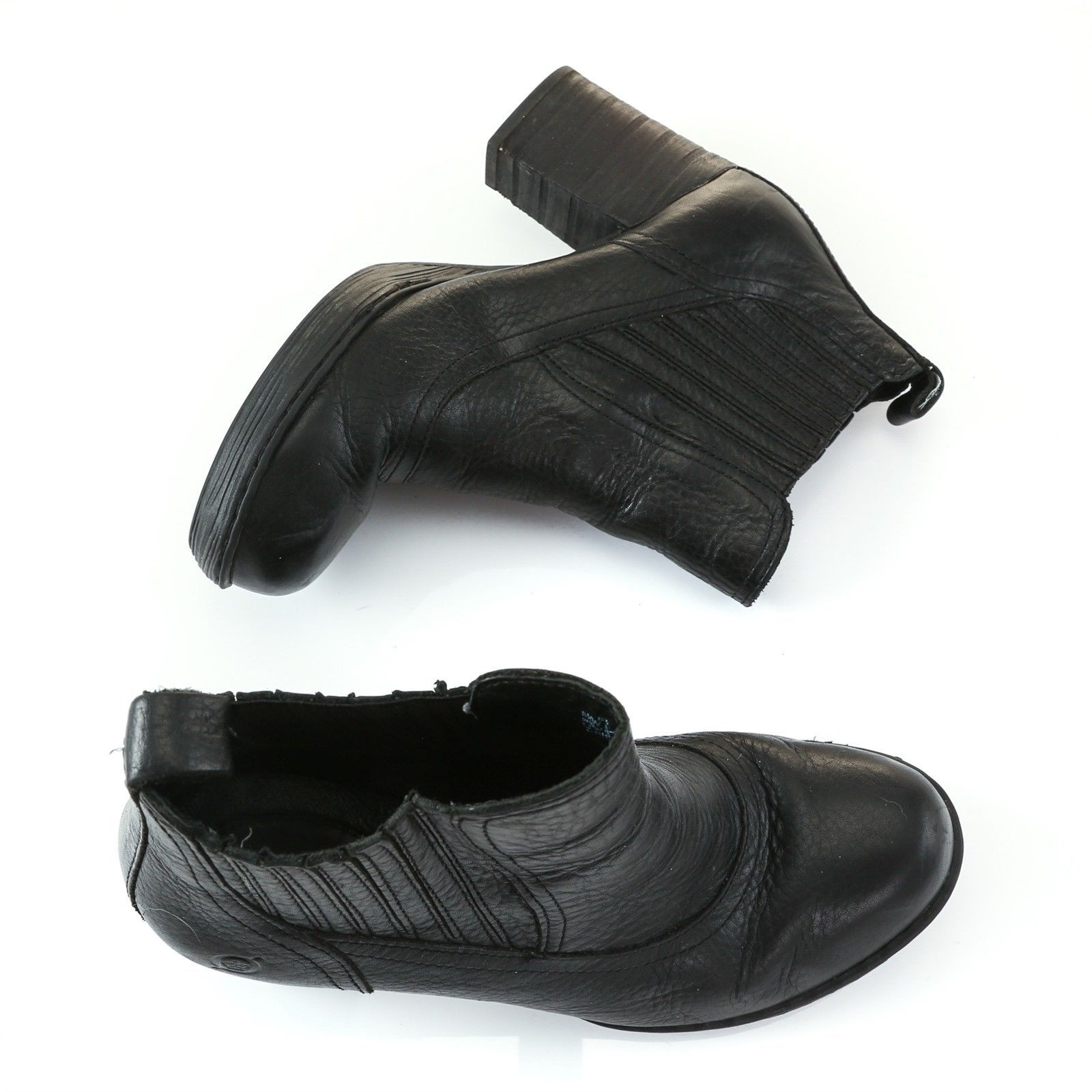 e2e520f919c Born Black Leather Pull On Ankle Boots and 50 similar items. 57