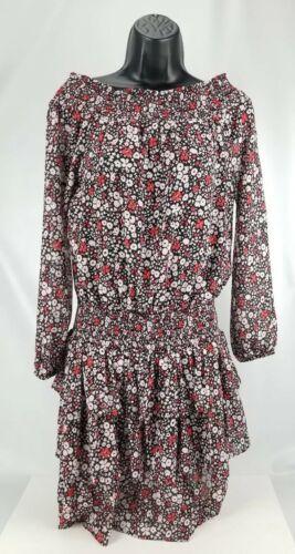 $155 Michael Kors Women's Ballet Off Shoulder Dress Floral Size  P/S image 2