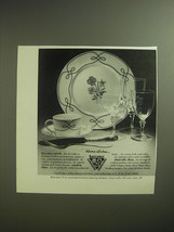 1974 Baccarat Crystal, Ceralene China and Christofle Silver Ad - $14.99