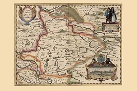 Map of the area around Zutphanis, Netherlands by Pieter Van der Keere - Art Prin - $19.99+