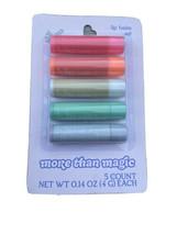 More Than Magic Lip Balm 5 piece set Cherry Orange Vanilla Berry Cupcake... - $13.49