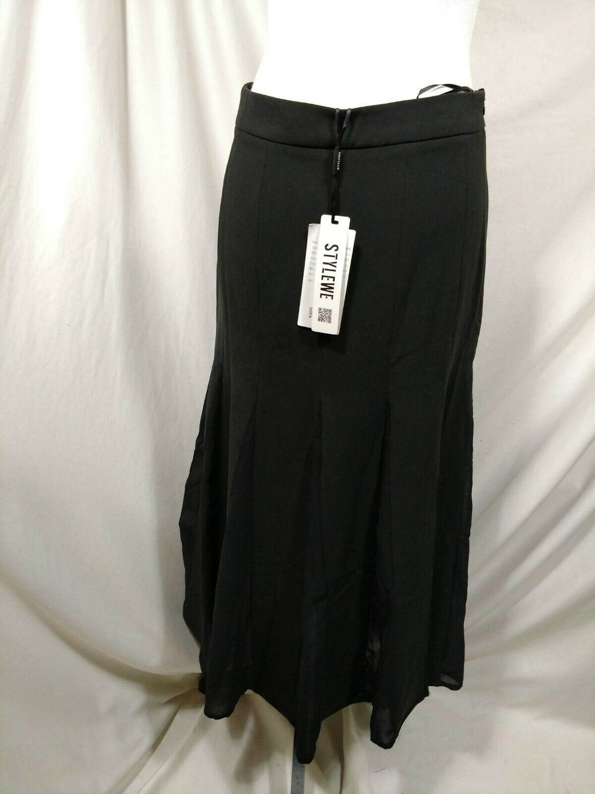 "STYLEWE Black Skirt Medium ""XL"" Flowy Fit & Flare SHANGMAN 6 8 Maxi Long Modest image 5"