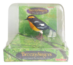 Breezy Singers Takara Redstart Lifelike Song Bird That Sings When Moved - $34.95