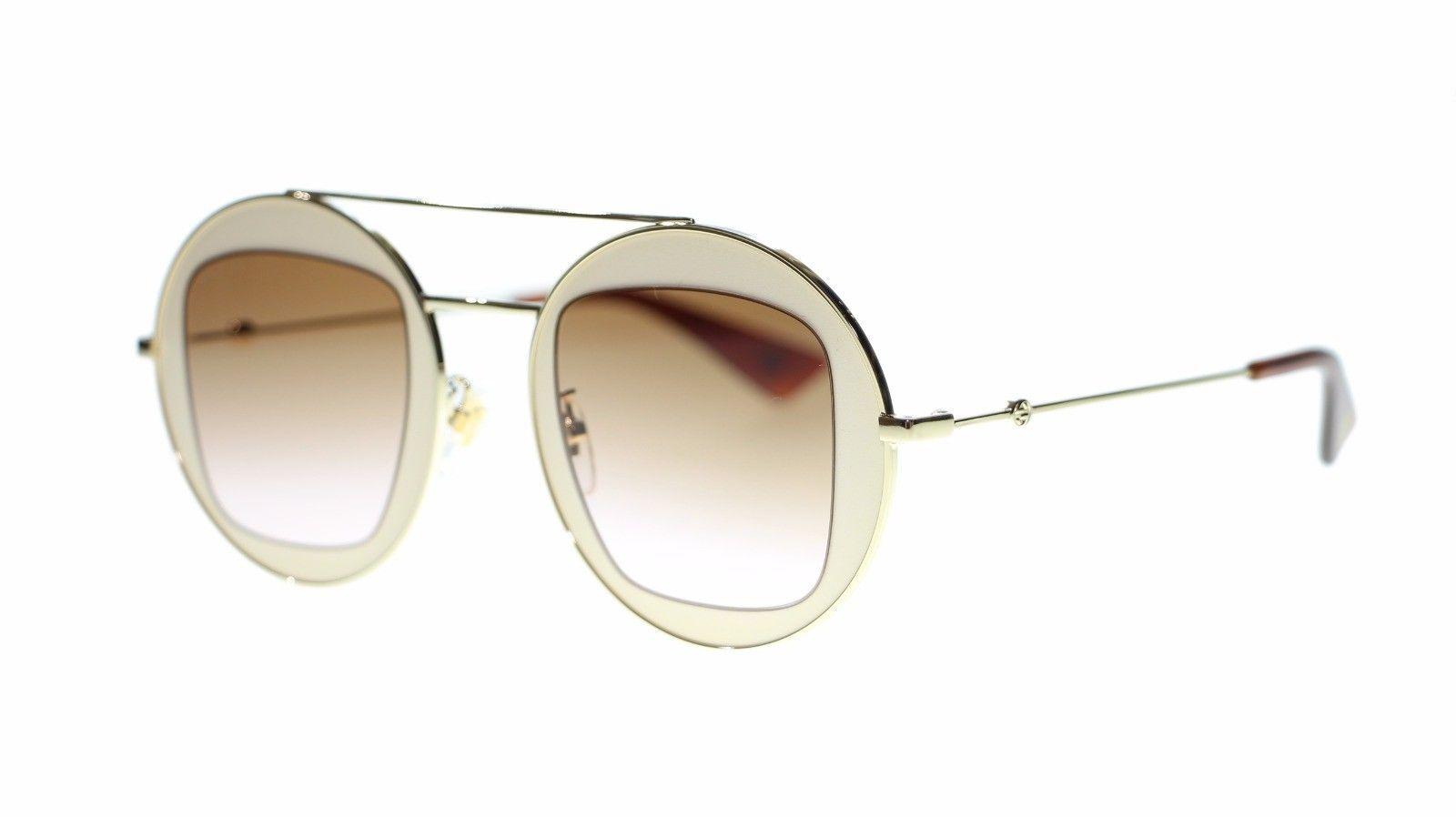 3e81c5393c S l1600. S l1600. Previous. Gucci Women Sunglasses GG0105S-007 Beige Gold  Brown Gradient Lens 47mm Authentic