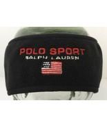 Vintage Polo Sport Ralph Lauren Headband Flag Black Fleece Made In USA L/XL - $35.59