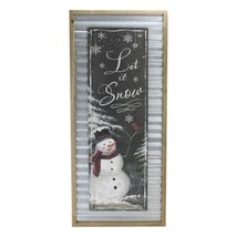 "Melrose 31.5"" Black White ""Let it Snow"" Elegant Snowman Wall Plaque - $47.26"