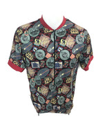Canari Men's Red Coffee Label Print Bike Biking Cycling Jersey USA Size ... - $26.04