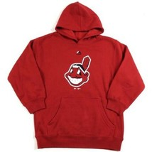 Cleveland Indians Boy's 8-20 Primary Logo Hoodie Hooded Pullover Sweatshirt NEW