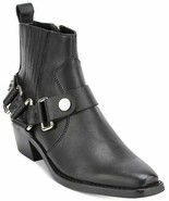 DKNY Women's Mina Suede Almond Toe Ankle Fashion Boots, Black, 7.5 - $69.29