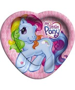 My Little Pony Rainbow Heart Shaped Lunch Plates 8 Per Package New - $4.90