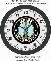 USA MAINE NATIONAL GUARD WALL CLOCK-NEW! - $28.70+