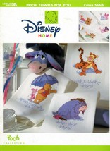 Pooh Towels For You in Cross Stitch Disney Home Leaflet 3314 NOS - $19.95