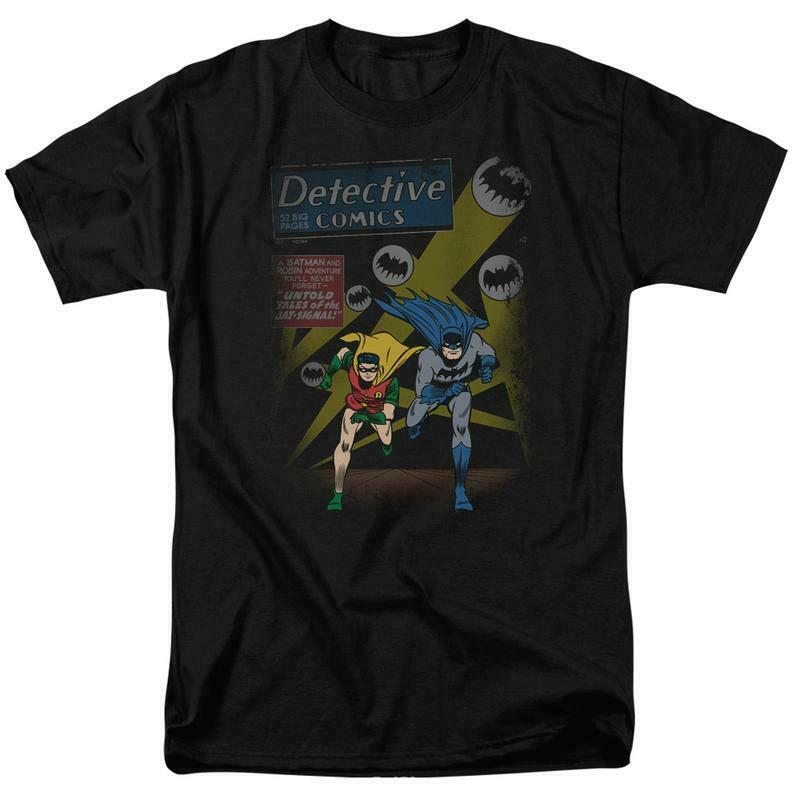 Batman and Robin T-shirt DC Comics retro superhero graphic tee BM1845