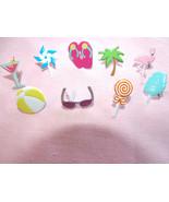 Summer Brads Flip Flops Sunglasses Ocean Beach Ball Palm Tree Candy Flam... - $6.79