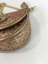 Coach Bag Evening Poppy Gold Sequin Crossbody Leather Chain 43292 Gold B2E image 6