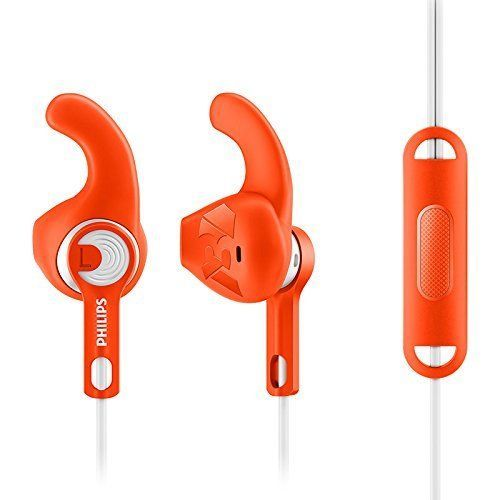 Philips SHQ1305OR/27 ActionFit Sports Headphones with Mic (Orange) ORIGINAL NEW