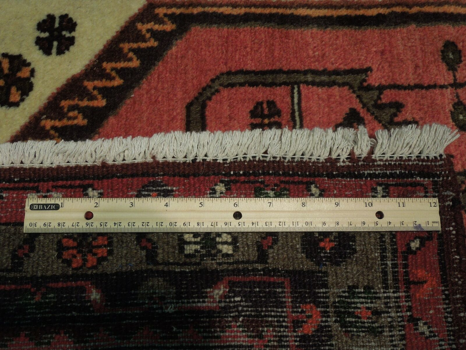 3' x 5' Pink Hamadan Wool Authentic Hand-knotted Small Tribal Persian Rug