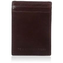 Tommy Hilfiger Men's Leather Magnetic Front Pocket ID Credit Card Slim Wallet