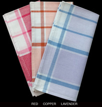 Extra Long Tea Towel Set (3) - 100% French Lint Free Cotton - $12.50+
