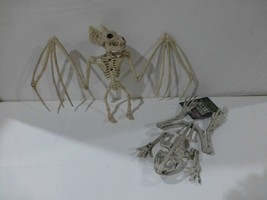 Bat and Frog Small Skeleton Plastic Halloween Props New  - €14,16 EUR