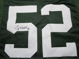 CLAY MATTHEWS / AUTOGRAPHED GREEN BAY PACKERS GREEN CUSTOM JERSEY / COA image 3