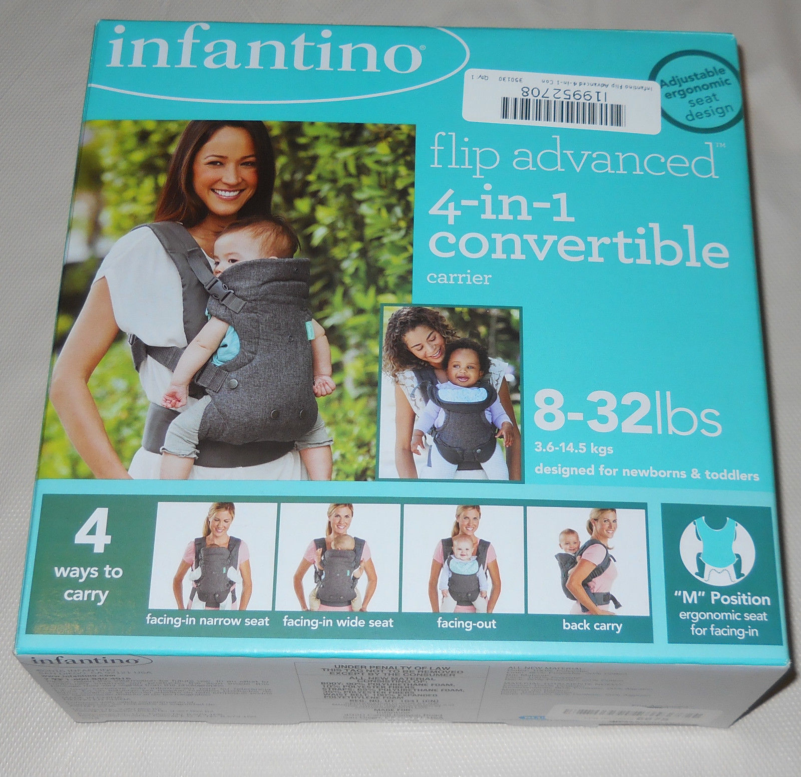 Baby Carrier Convertible Flip Advanced 4 1 Infant Newborn Toddler Seat Gift New