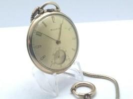 Vintage 1940's Bulova Open Face Pocket Watch, Running, 42mm, 10k R.G.P, ... - $200.00
