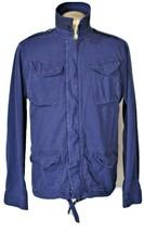 Cool POLO RALPH LAUREN Blue Cotton Military Style M-65 Coat Hidden Pocke... - $34.87