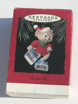 Hallmark Keepsake Christmas Ornament On The Ice Mouse MINT in Box Cute 2... - $9.10