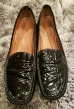 Stuart Weitzman Womens Mach 1 Black Patent Leather Driver Moccasin Loafer Size 8 - $51.41