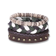 NEW Jewelry Fashion Infinity Leather Charm Bracelet Silver lots Beads Style - $12.99