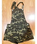 NOBO No Boundaries camo Bib Overall Shorts  Size XS Relaxed Fit camo - $26.72