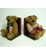Pair Of Nice Teddy Bear Couple Bookends, Books Are Fun - $14.80