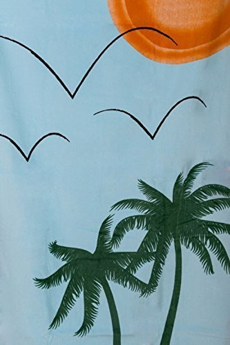Sand Secured Outdoor Towel Set: One1 Starfish Design & One1 Palm Tree Design, 2