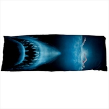 dakimakura body hugging pillow case shark jaws megalodon geek nerd cover  - $36.00